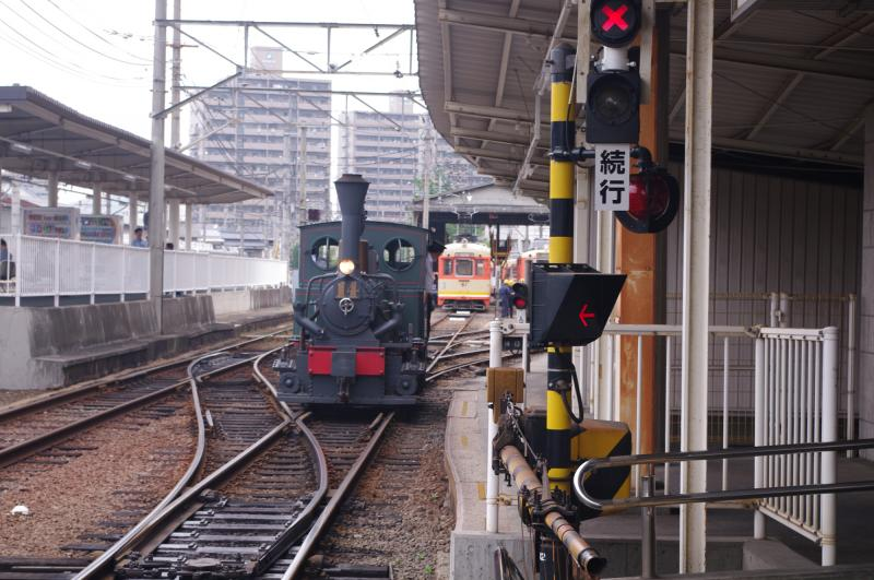 坊ちゃん列車到着