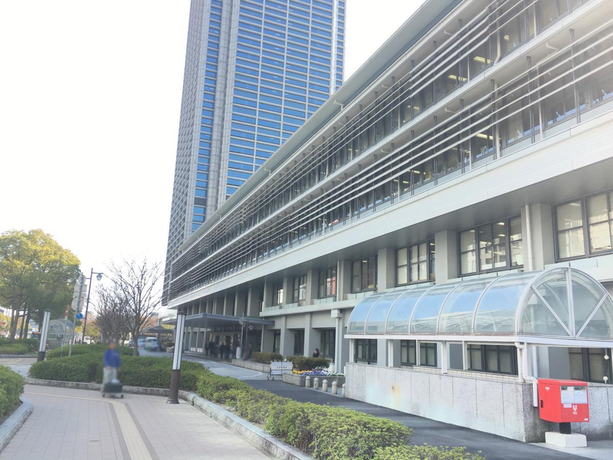 最寄り駅三ノ宮の神戸市役所です。