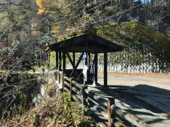 「白骨温泉」バス停留所
