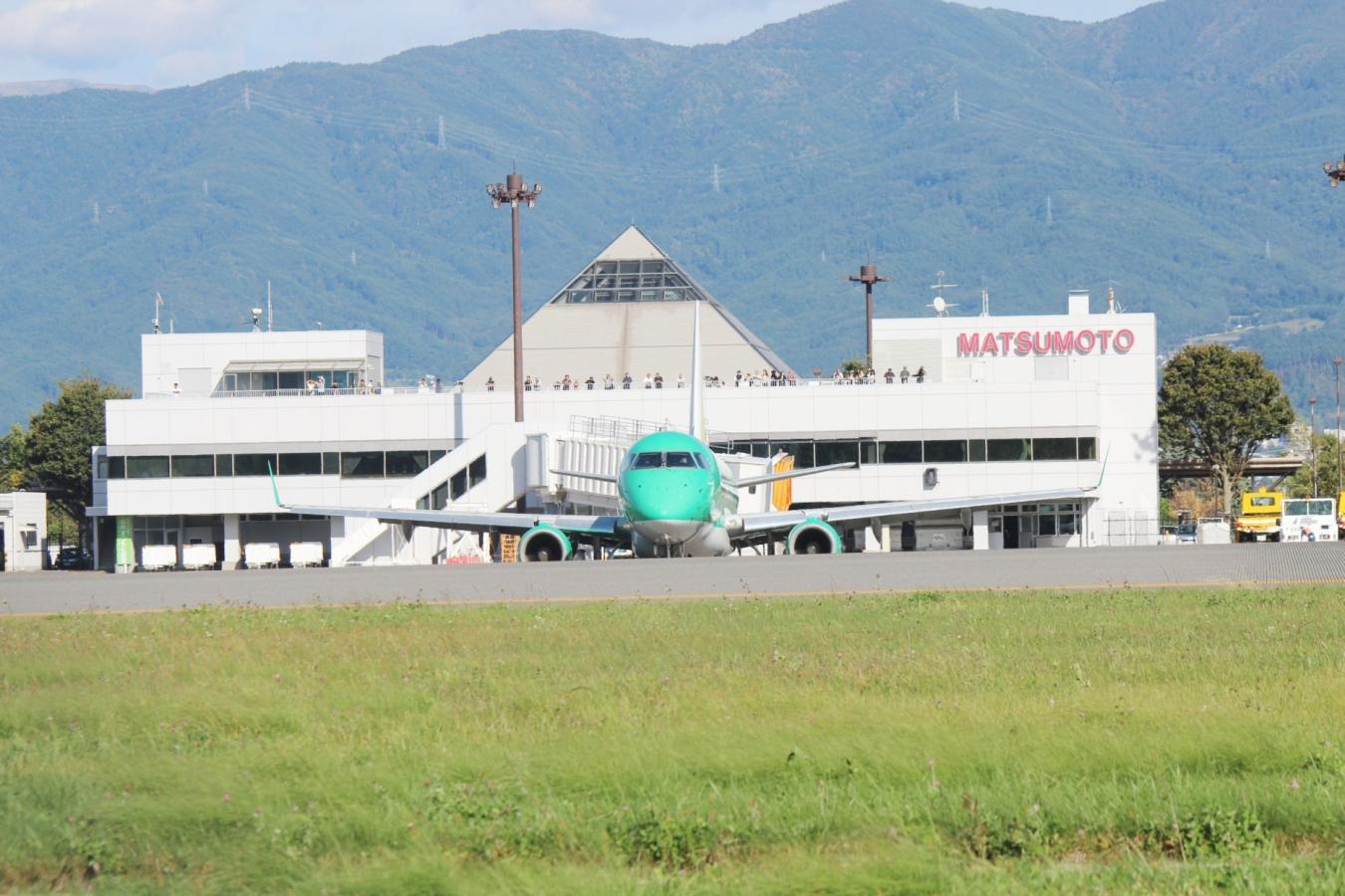 松本空港とFDA(フジドリームエアーライン)