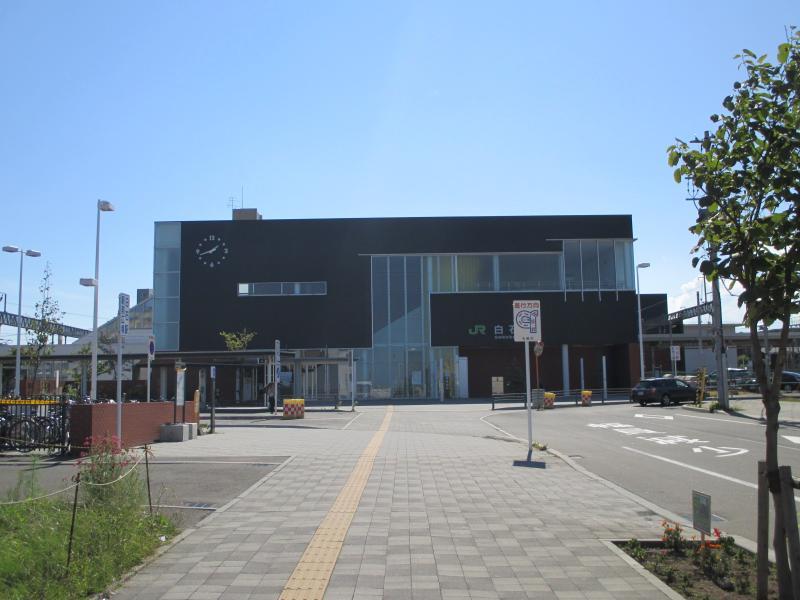 白石駅北口