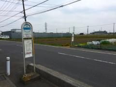 「木売り新田入口」バス停留所
