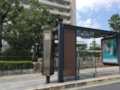 「市立病院前」バス停留所