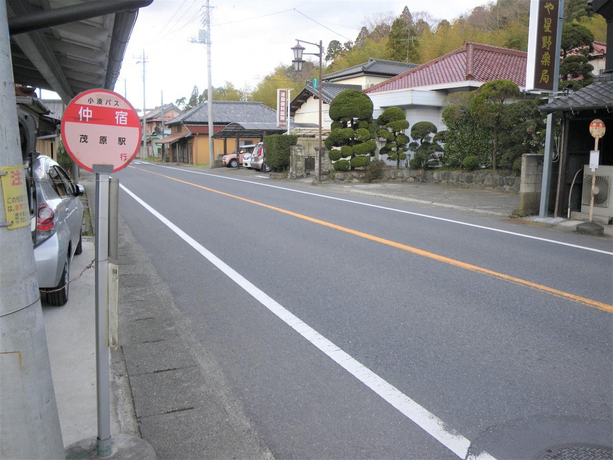 「仲宿」バス停留所