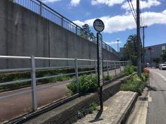 「あしや喜楽苑前」バス停留所