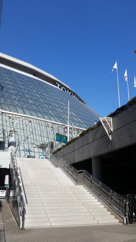 水道橋駅西口からのドーム