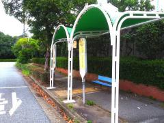 「機械金属団地前」バス停留所