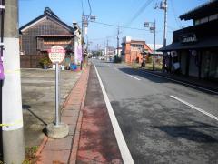 「夷隅神社前」バス停留所
