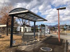 「土屋文明文学館」バス停留所