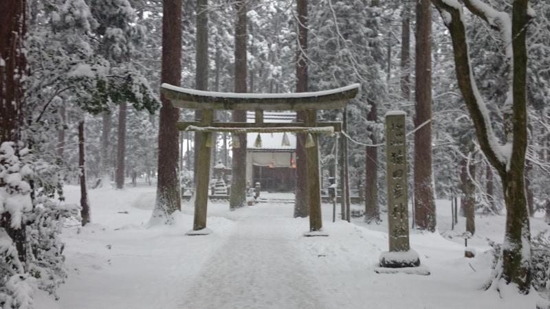 境内にある猿田彦神社の全景です。