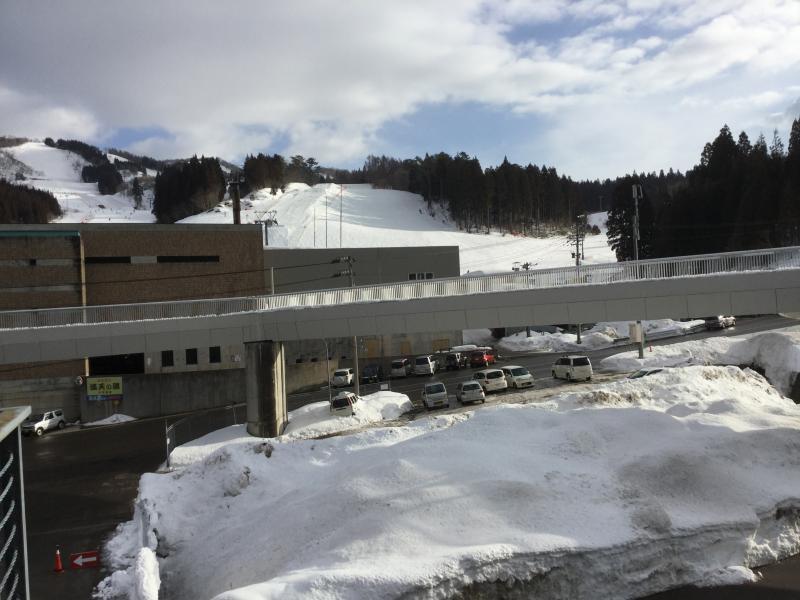 駐車場から見た景色