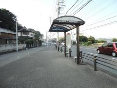 「矢作入口」バス停留所