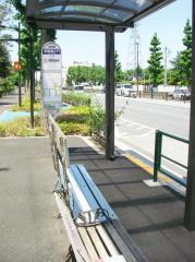「試験場正門」バス停留所