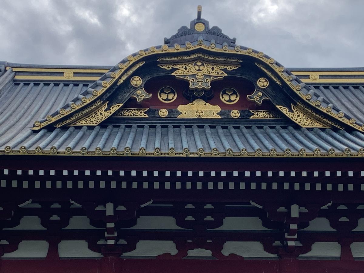 徳川の紋章が見えます。