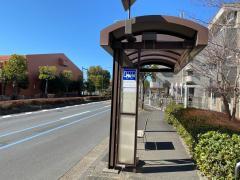 「茅ケ崎中学校前」バス停留所