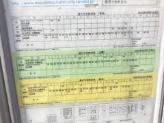 「愛子幼稚園前」バス停留所