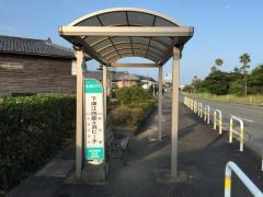 「下津江四郎ケ浜ビーチ」バス停留所