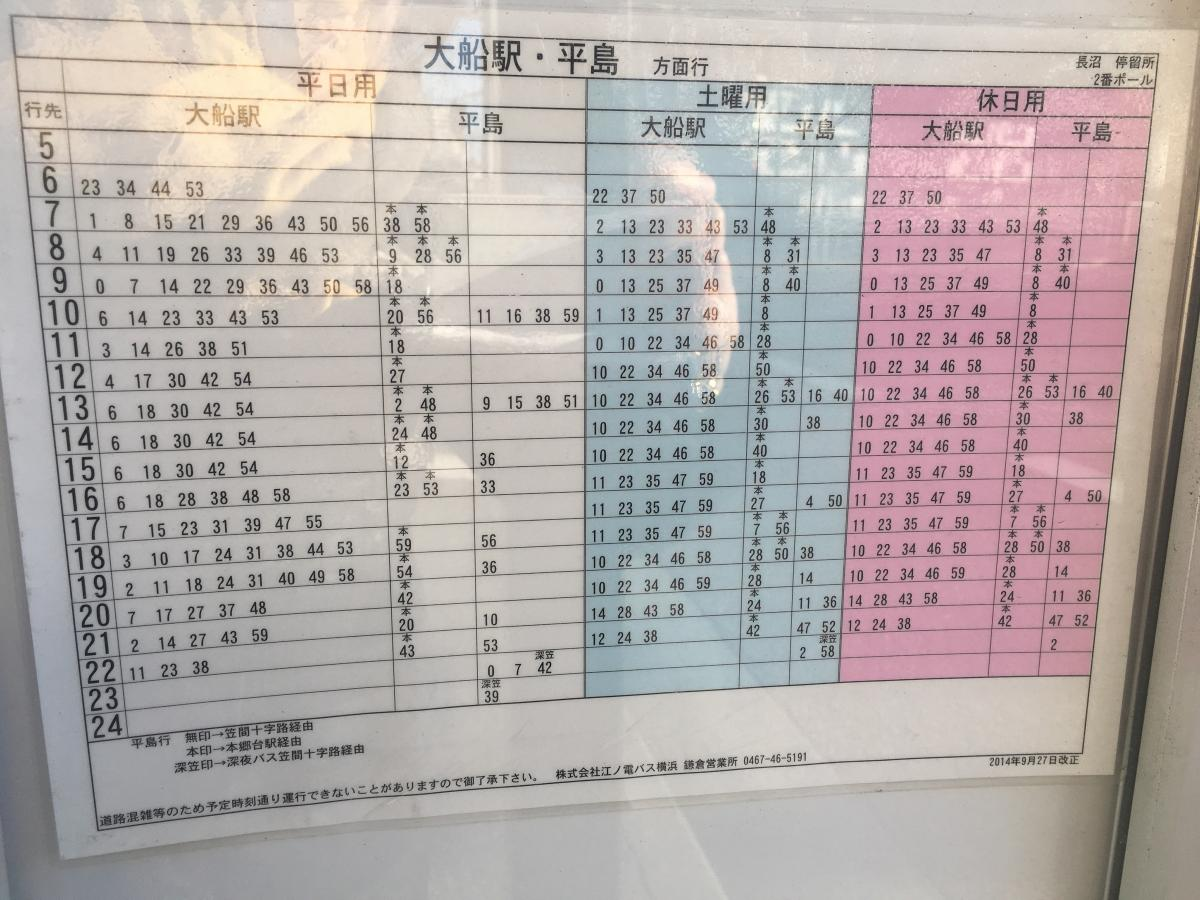 表 江ノ電 バス 時刻