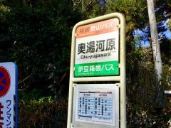 「奥湯河原」バス停留所