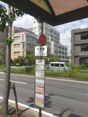 「木曽橋」バス停留所