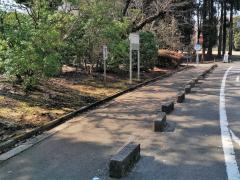 「平和公園G墓地入口」バス停留所