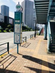 「東雲橋交差点」バス停留所