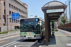 「平野区役所前」バス停留所