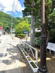 「葛巻小学校前」バス停留所