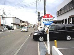 「目井津銀行前」バス停留所