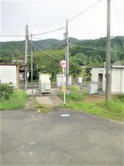 「下宇和駅」バス停留所