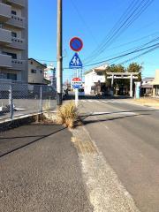 「大塚神社前」バス停留所