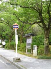 「成巽閣前」バス停留所